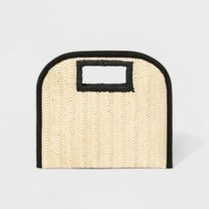 Cut Out Handle Straw Clutch - A New Day  Natural